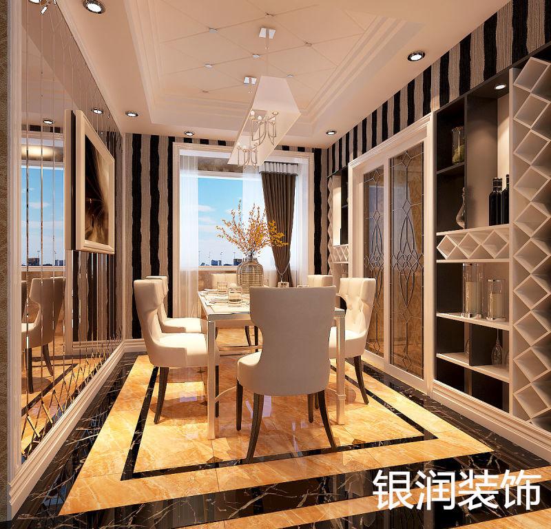 餐厅位置厨房墙面打通做酒柜
