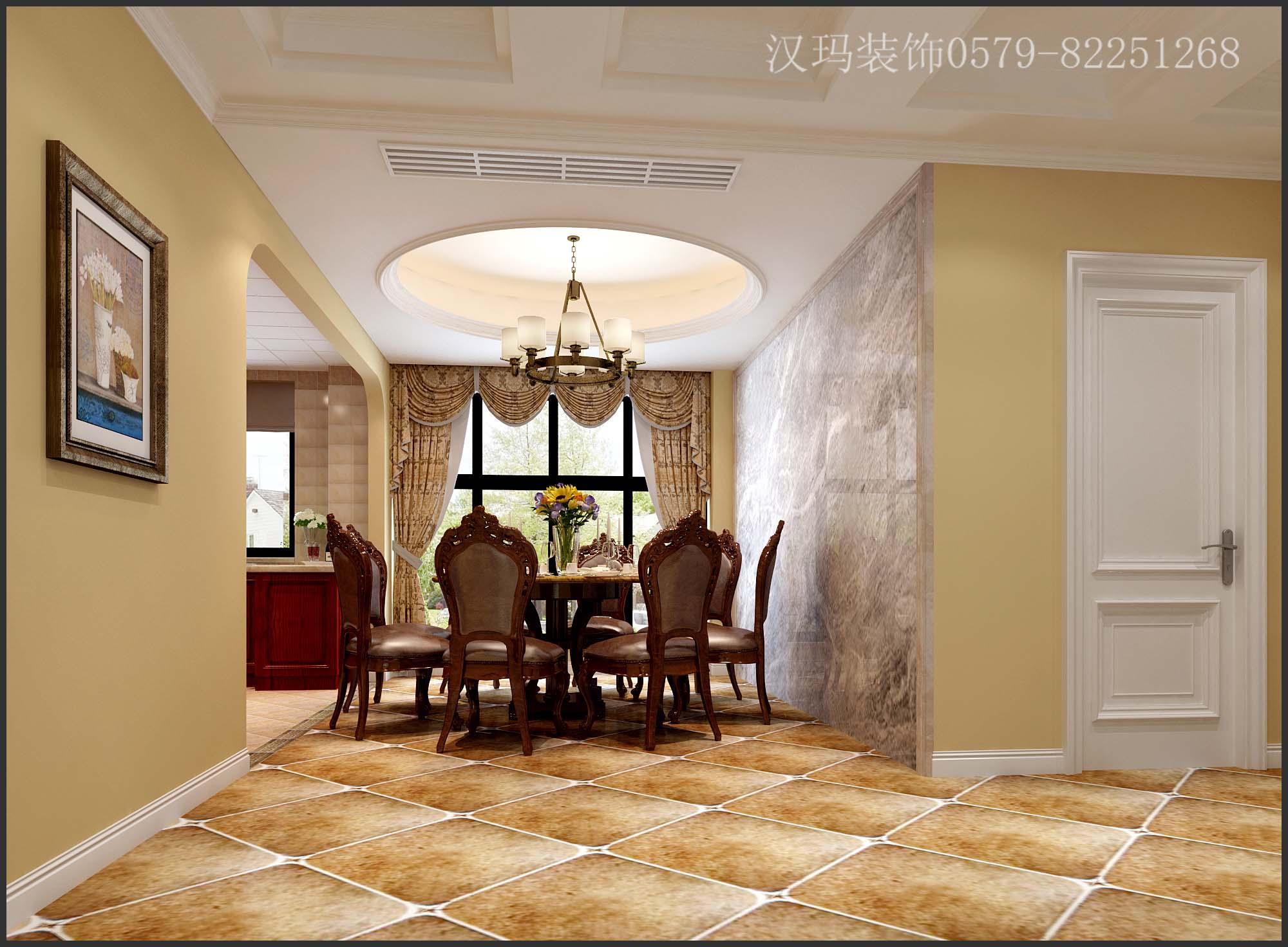 142平米三居室如何装修 美式半包9万!-保集湖海塘庄园装修
