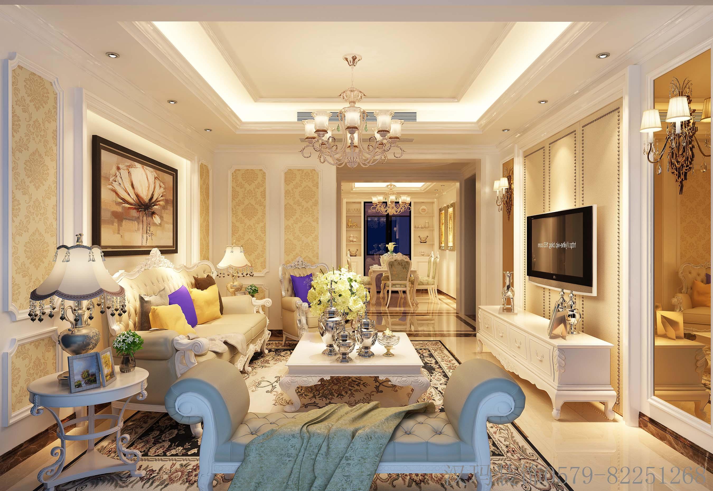 126平米四居室精美装修 简欧半包6万!-光明湖海城市花园装修