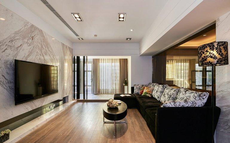 111.97平米三居室热门案例 现代简约全包11万!-绿都万和城装修