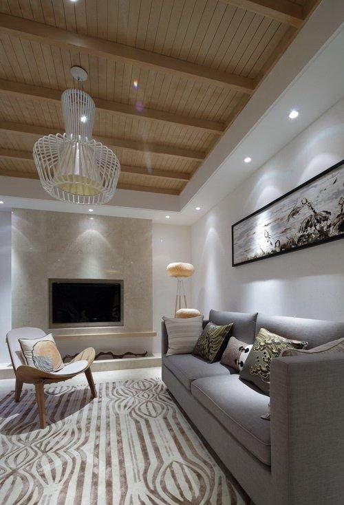 106.87平米三居室装修案例 现代简约半包4万!-常发御龙山装修