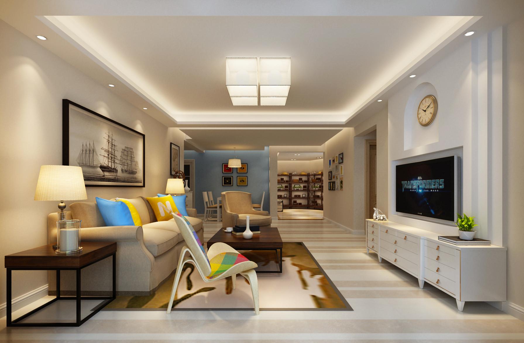 中海元居-法式风格-三居室-装修案例设计说明图片