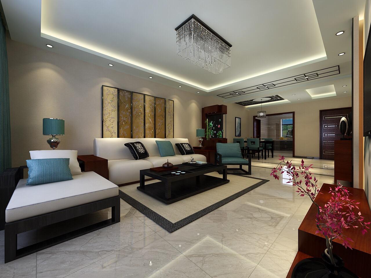 客厅简单的吊顶造型,大气时尚