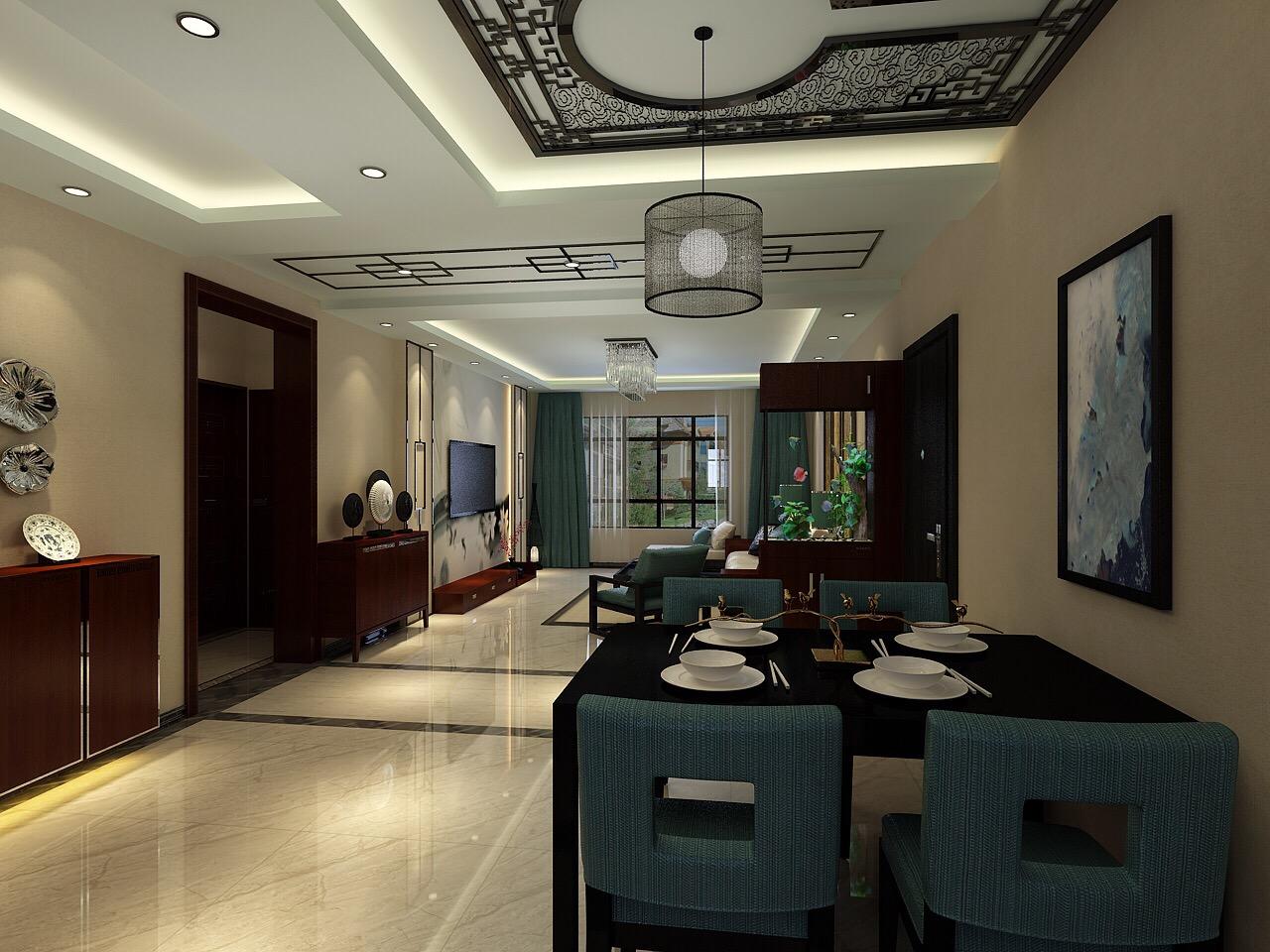 餐厅与客厅相结合看着空间很大的