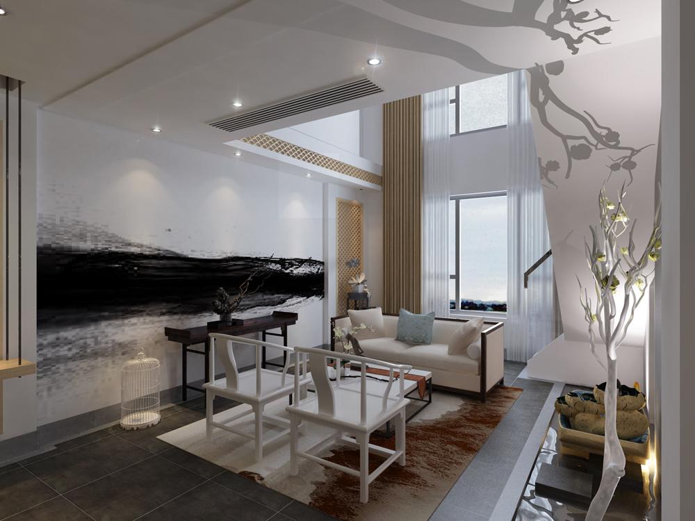 东丽湖别墅265平米后现代简约风格装修效果图-后现代简约风格-一居室图片