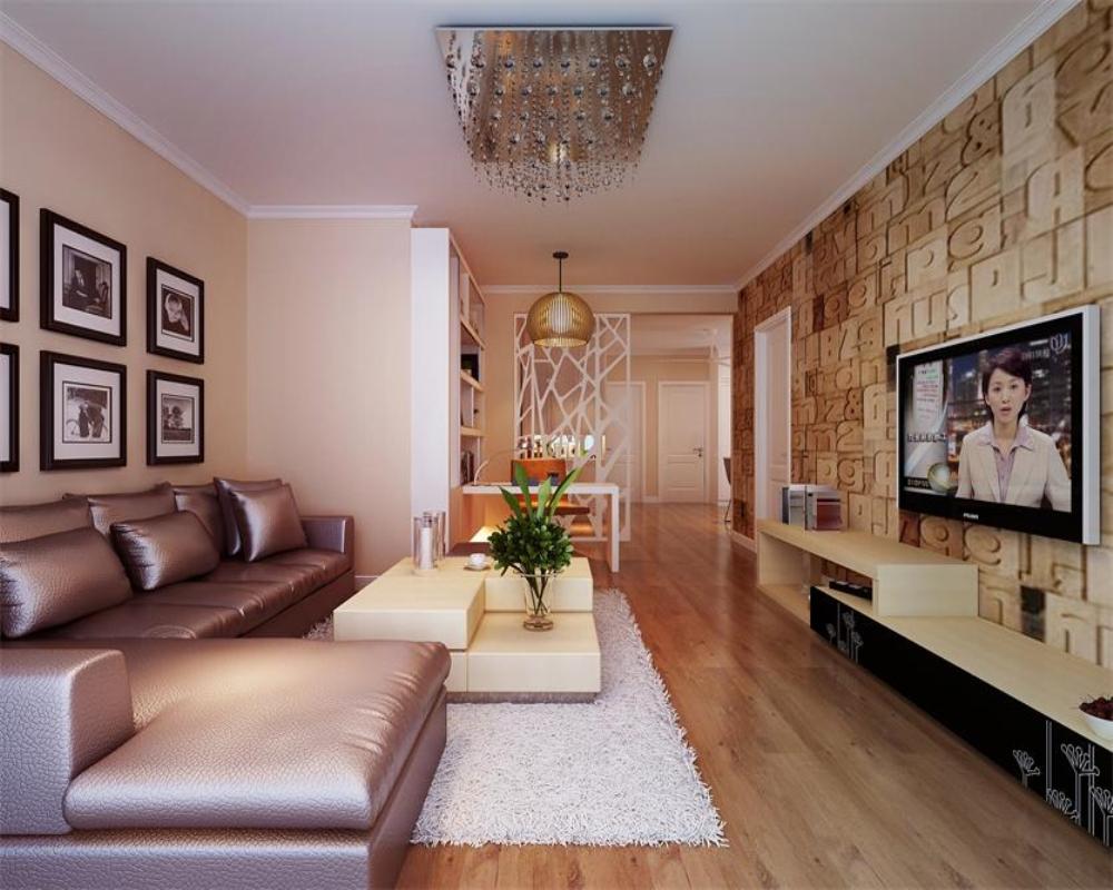 客厅以温暖的色调,家的温暖和谐和盘托出