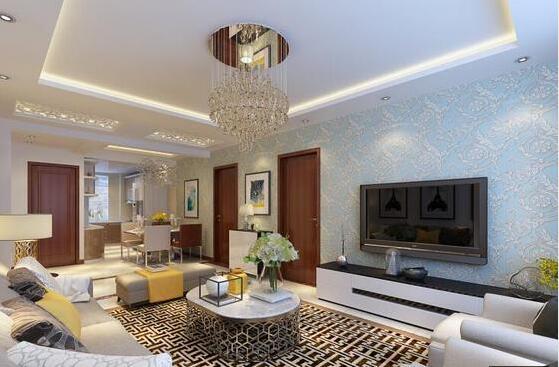 115平米三居室热门案例 现代简约半包3万!-新星宇左邻装修