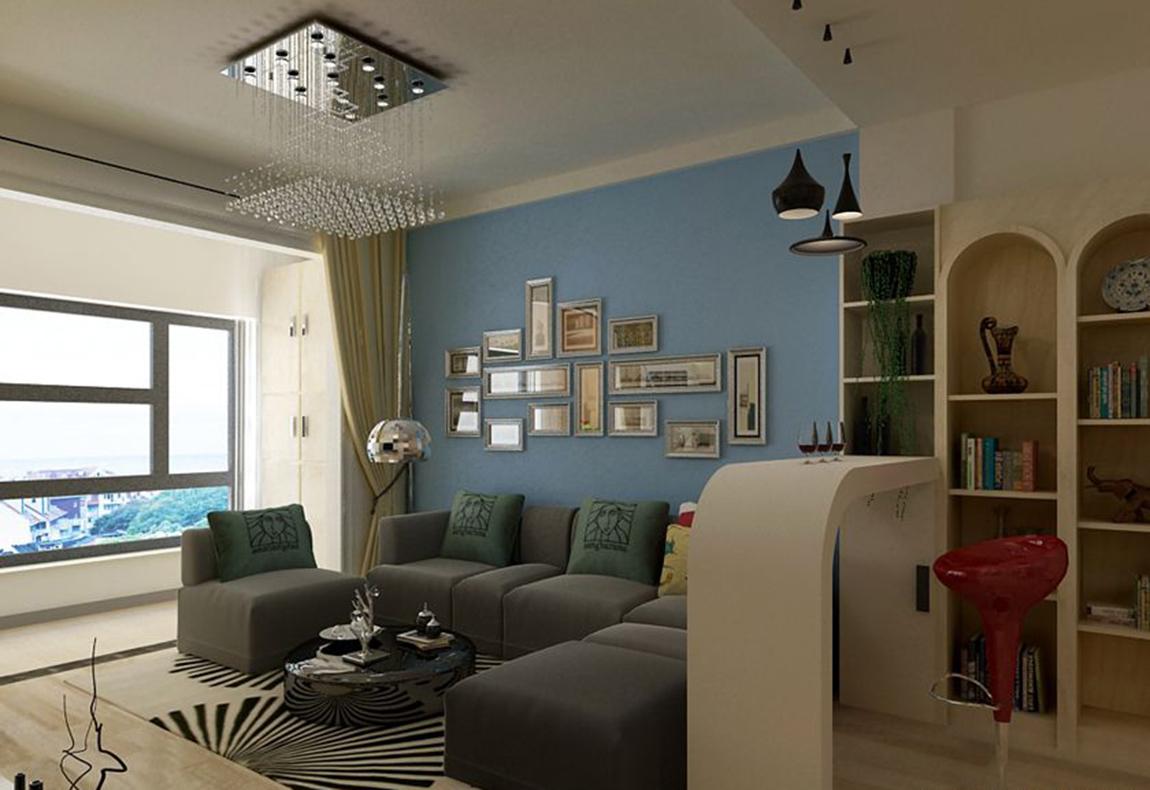 窗帘、、沙发套、灯罩等均以低彩度色调和棉织品为主