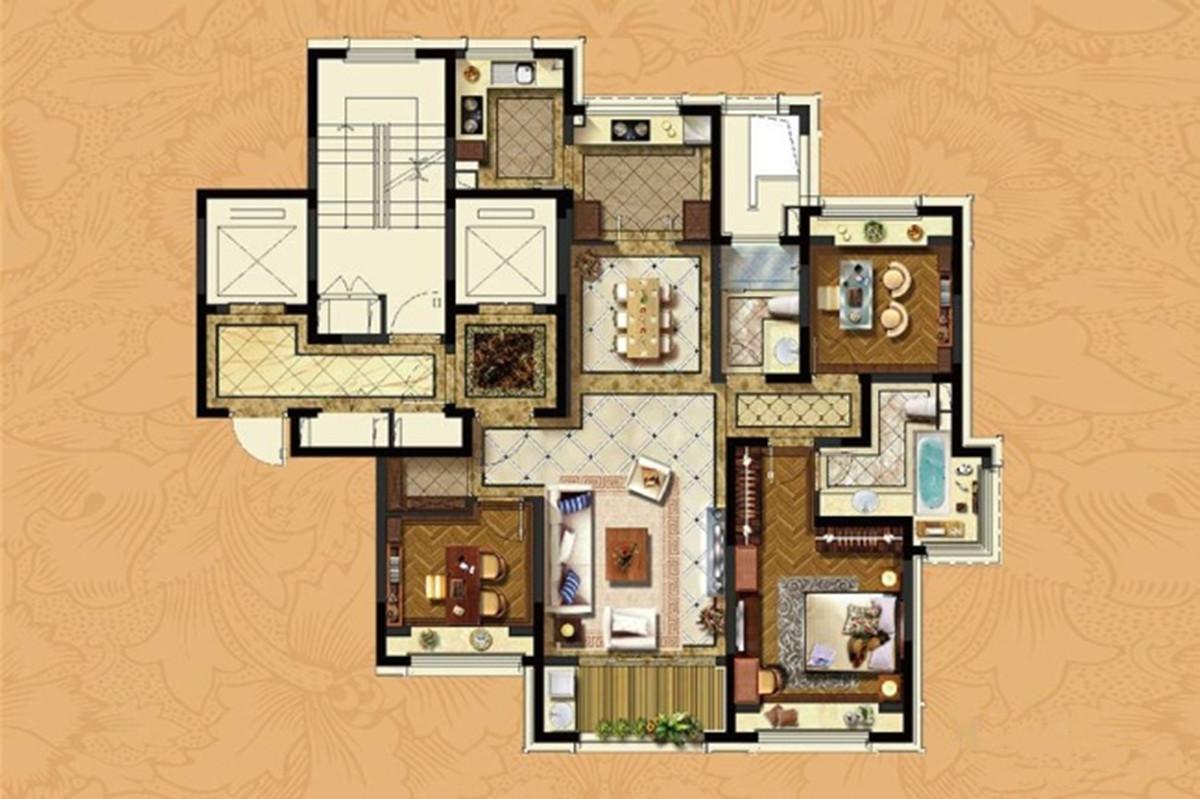 133平米三居室装修攻略 东南亚半包5万!-浦发罗兰翡丽装修