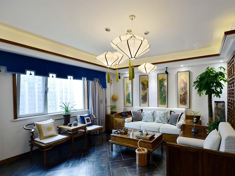 北京盛源家豪城中式古典三居室装修效果图_120平米11图片