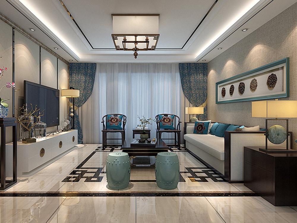216平米四居室装修秘籍 中式半包11万!-融创中央学府装修