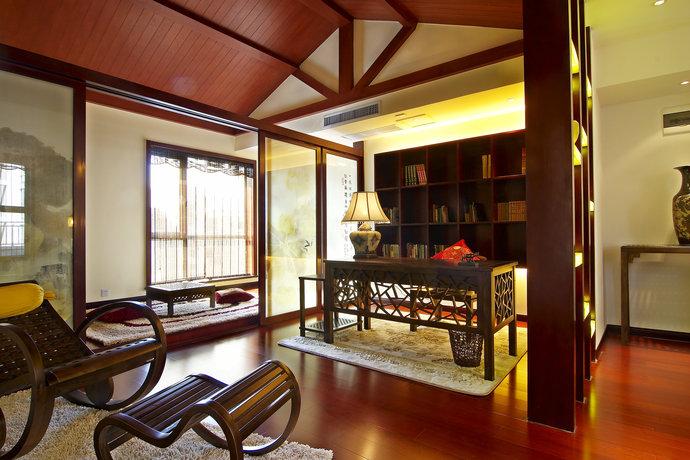 首创暖山-中式古典-二居室-看装修案例-家天下装修帮
