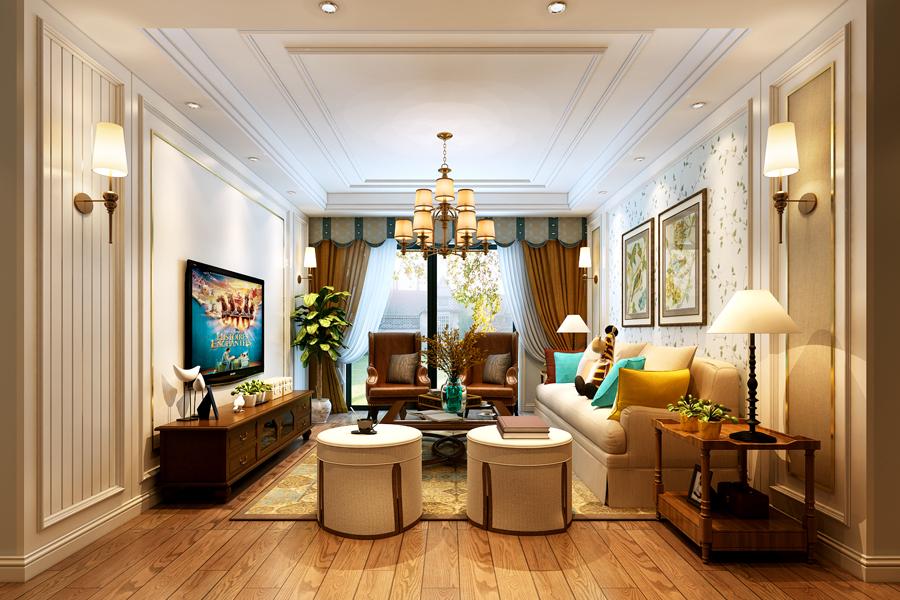 客厅整体装修效果图