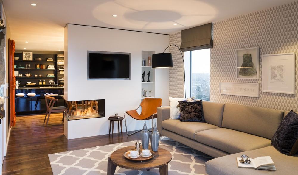 121平米三居室装修案例 现代简约全包15万!-绿都御景蓝湾装修