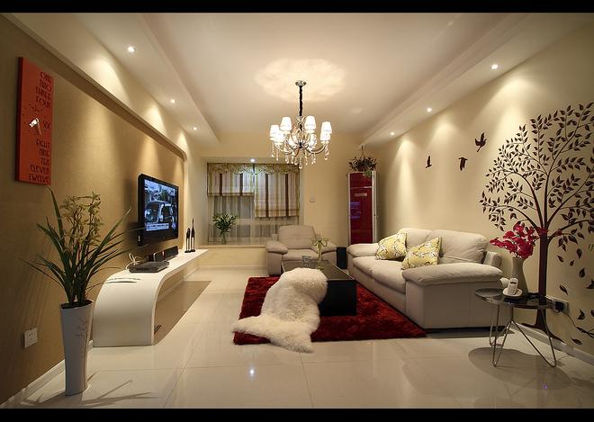 90平米二居室精美装修 现代简约半包4万!-绿都万和城装修