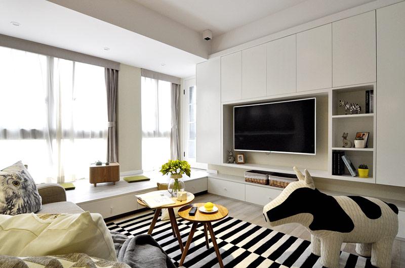 82.64平米的房子装修只花了6万,现代简约风格让人眼前一亮!-苹果社区装修