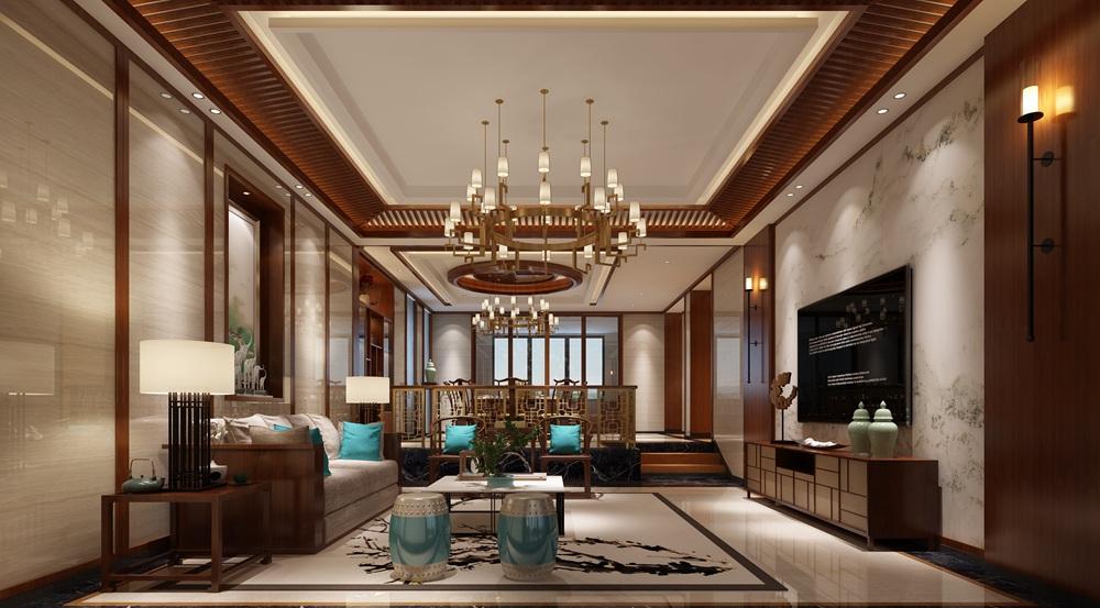 乡村风格-二居室-装修案例  金科世界城·绫罗万千-现代中式-四居室图片
