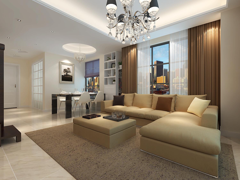 118平米三居室精美装修 现代简约半包4万!-铂金汉宫装修