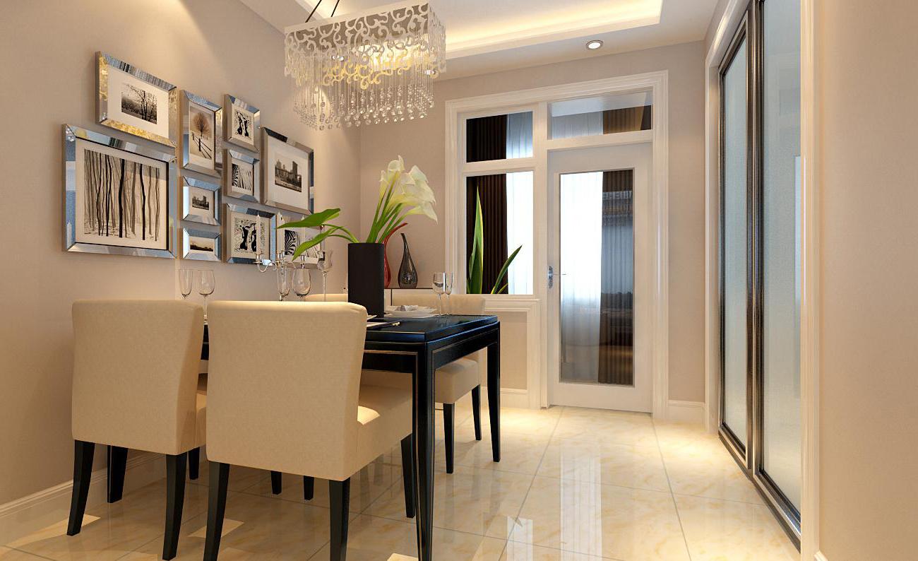 空间的通透感和材料上的质感,该户型运用直线吊顶和亮光的地砖