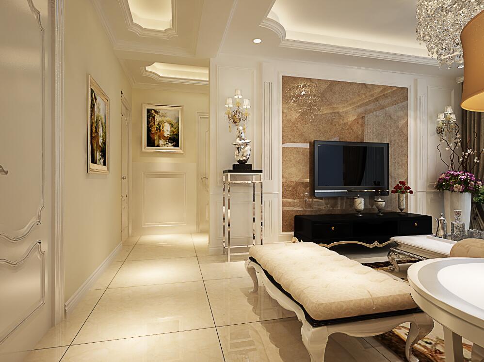 简欧风格三居室装修效果图102平米15万简欧风格三居室图片