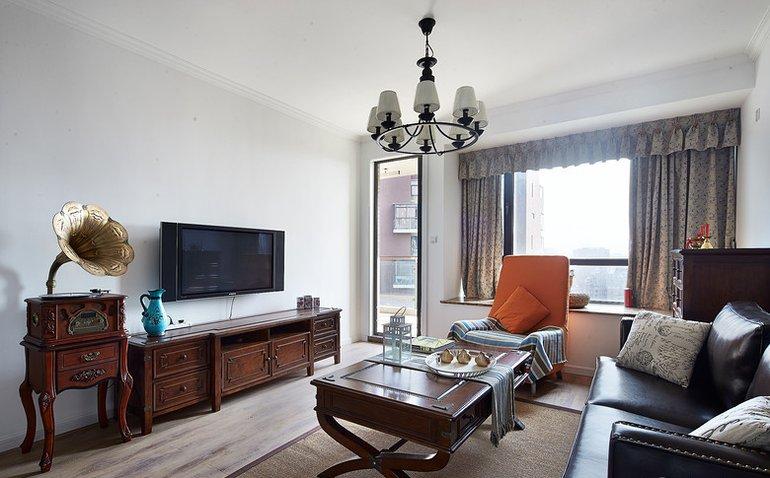 113.33平米三居室热门案例 欧美风情半包4万!-绿都万和城装修