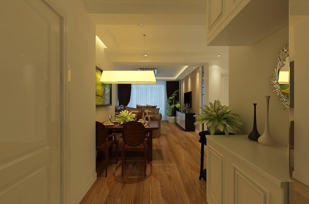 二居室简约欧式风格餐厅装修效果图-简约欧式风格餐厅吊灯