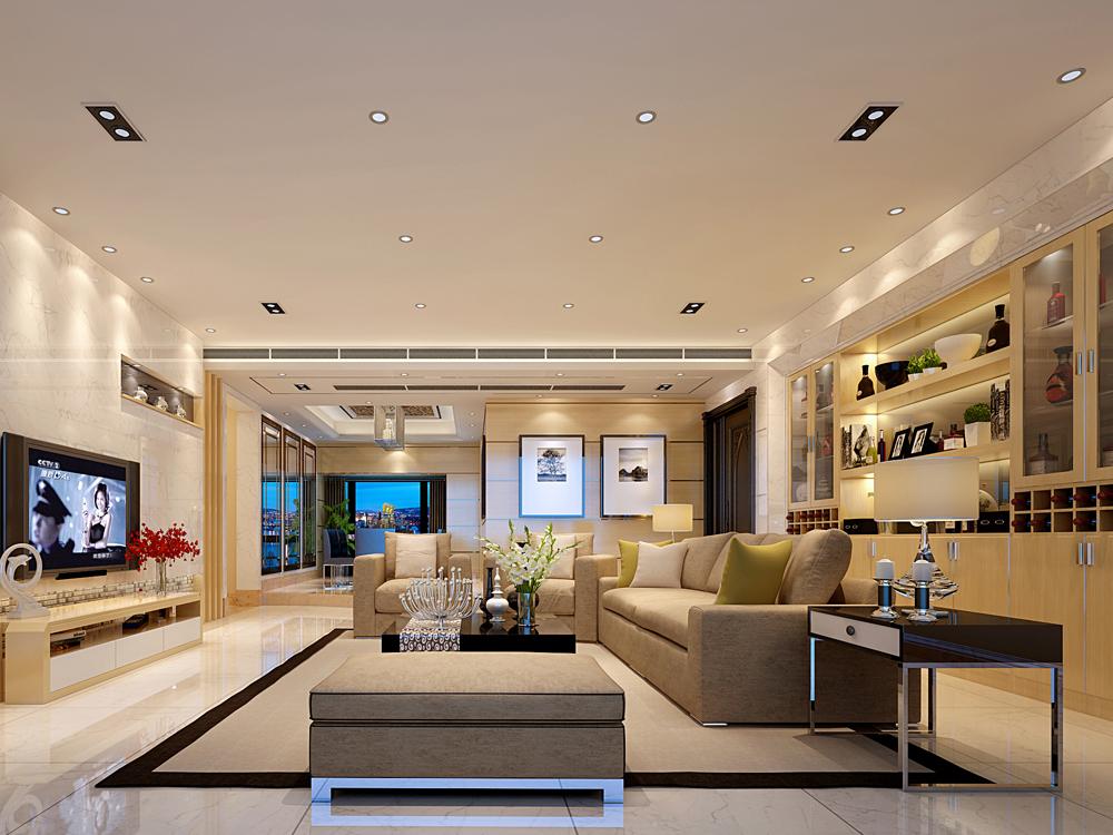 180平米五居室装修秘籍 现代简约半包19万!-前海时代·CEO公馆装修