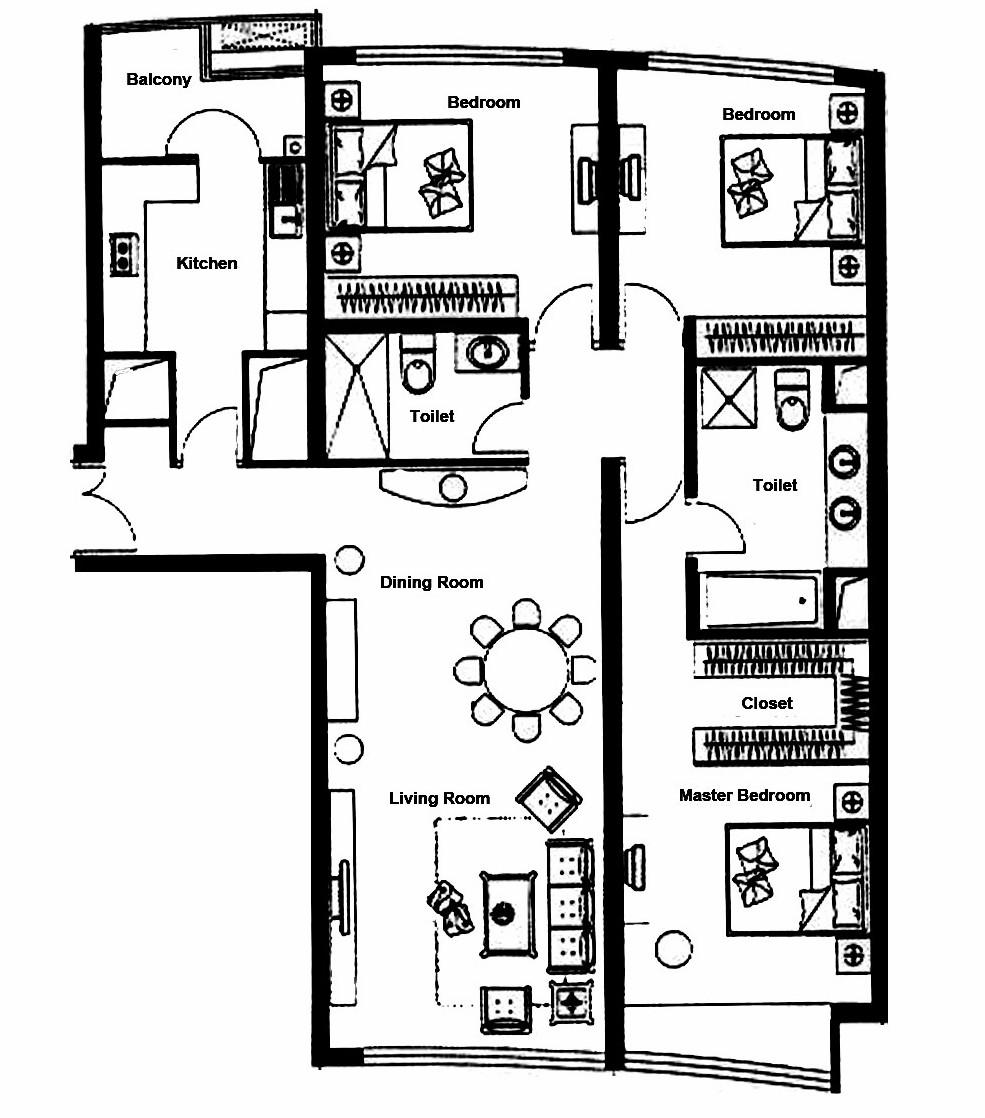 96平米二居室装修秘籍 中式古典半包3万!-银洲公寓装修