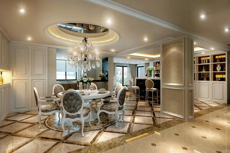 52万块钱装修的427平米的房子,简欧风格简直太美了!-大富鸿墅装修