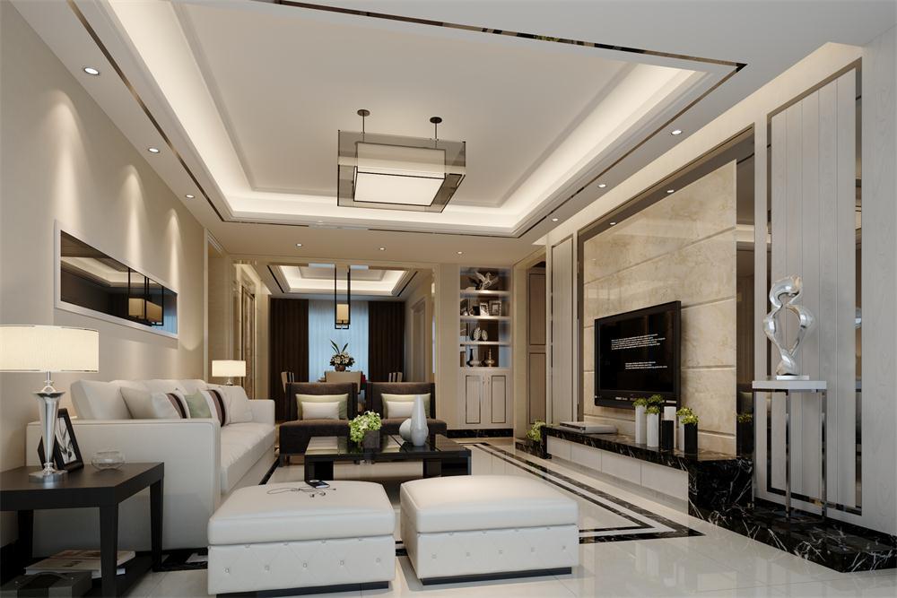 135平米四居室装修案例 现代简约半包14万!-万科云城装修
