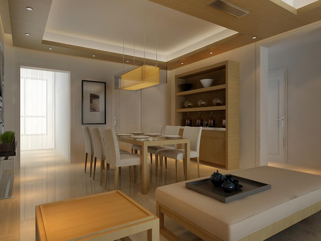 简约日式二居室105平米10万_柠檬郡装修案例-杭州房