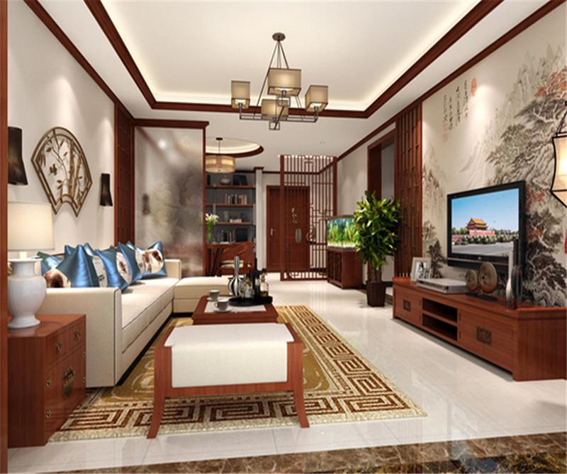 118平米三居室装修攻略 中式古典全包15万!-万科四季花城装修