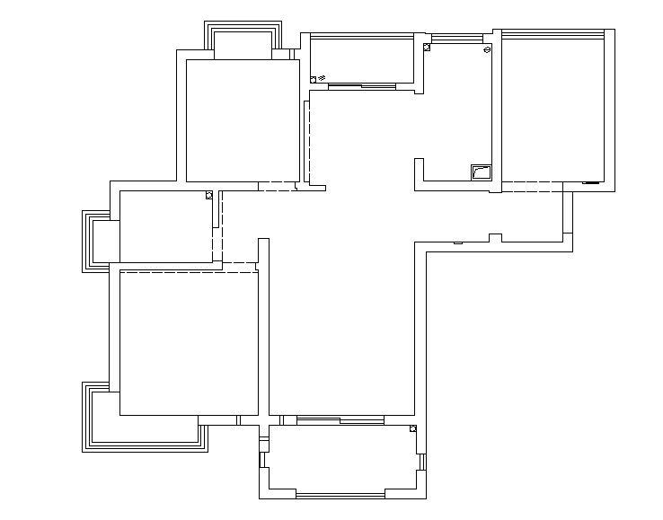 105平米三居室精美装修 简美半包4万!-华地公馆装修