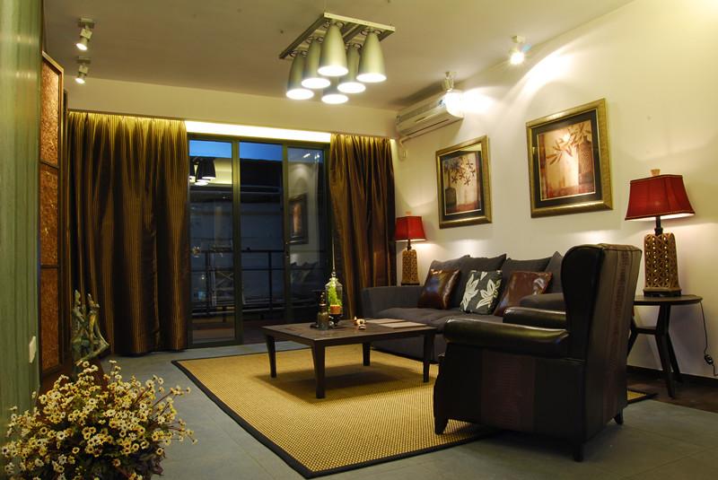 98平米二居室装修案例 现代简约半包6万!-保利·金香槟装修