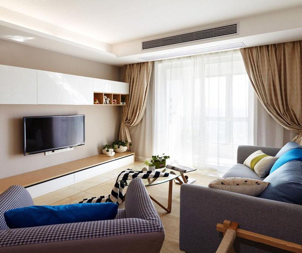 78平米二居室装修案例 现代简约半包7万!-融信学院府装修