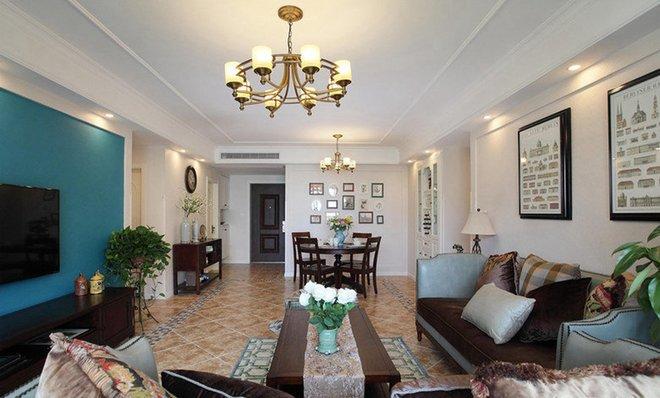 113平米三居室装修案例 欧美风情全包110万!-海伦堡流金岁月装修