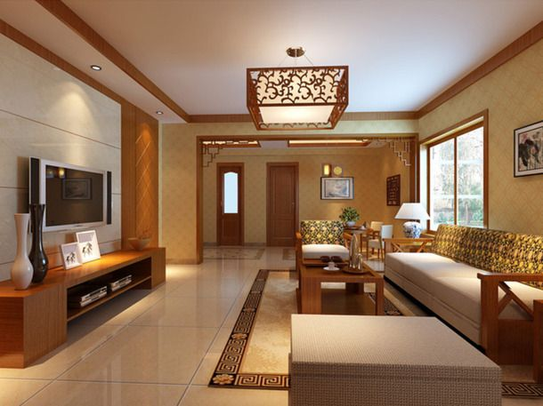 116平米三居室装修秘籍 中式半包4万!-天珑广场装修