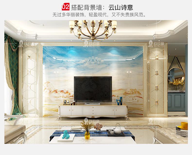 瓷砖背景墙客厅边框造型客厅沙发电视影视墙 金镶瓷 黄金海岸/平方米