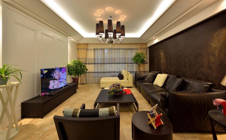 141.82平米三居室如何装修 现代简约半包6万!-绿城翡翠湖玫瑰园装修