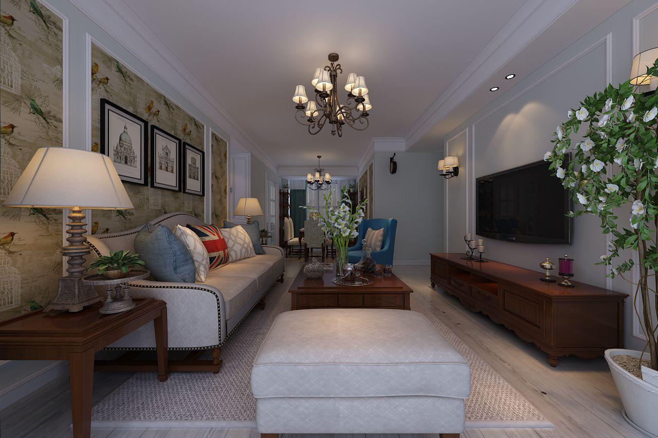 120平米欧美风情风格三居室,预算4万,点击看效果图!-高速时代城装修