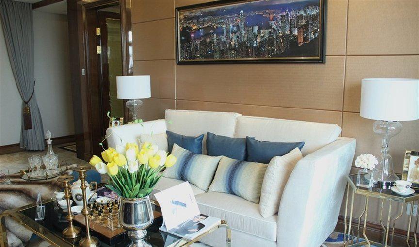 现代简约风格三居室精美装修,117平米的房子这样装才阔气!-恒大悦府装修