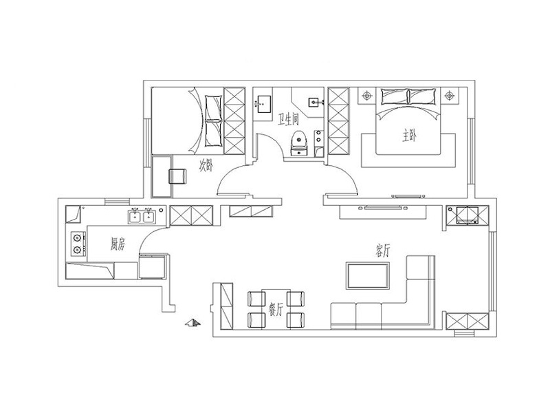 唐山橡树湾 88平米 装修图