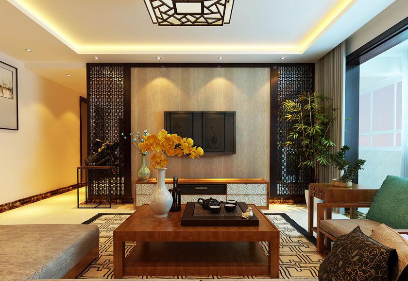 97平米的中式风格,原来三居室还可以这样装修!-中海金钻街装修
