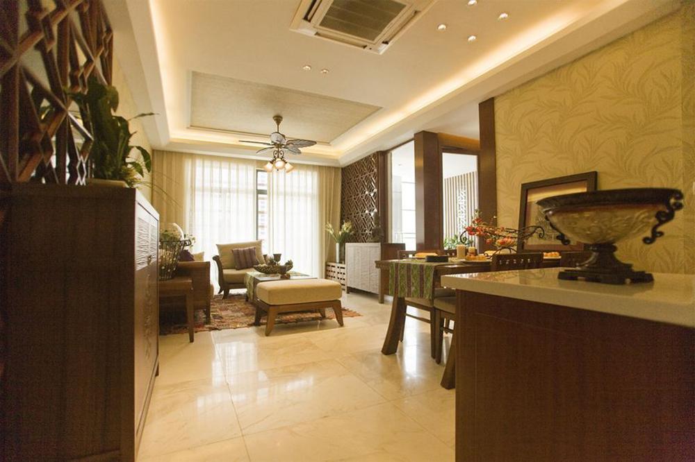 90后小夫妻花4万元装修的东南亚风格,100平米三居室太赞了!-瑶海万达广场写字楼装修