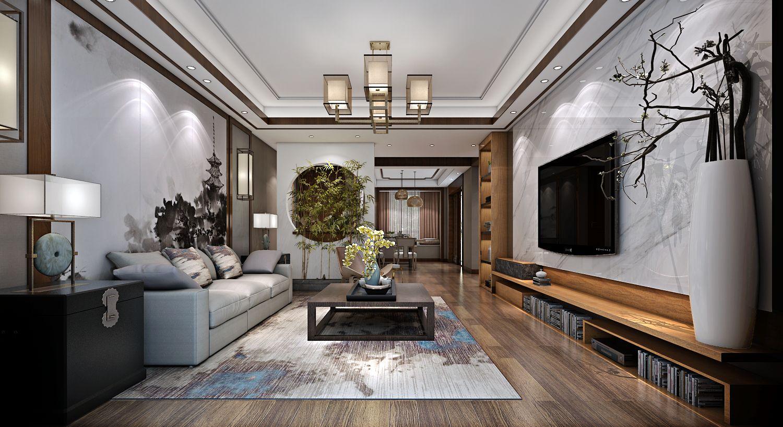 中式风格五居室装修效果图200平米15万中式风格五居室装修案例大全