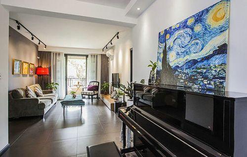 现代简约风格二居室热门案例,88平米的房子这样装才阔气!-滨江1号装修