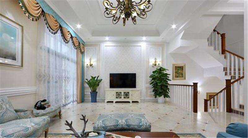 336.67平米的欧美风情风格,原来五居室还可以这样装修!-金地湖城大境装修