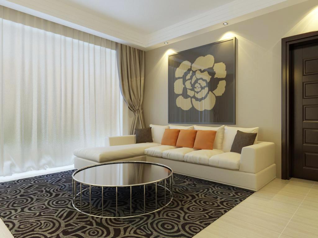 130平米现代简约风格二居室,预算8万,点击看效果图!-招商钻石山装修