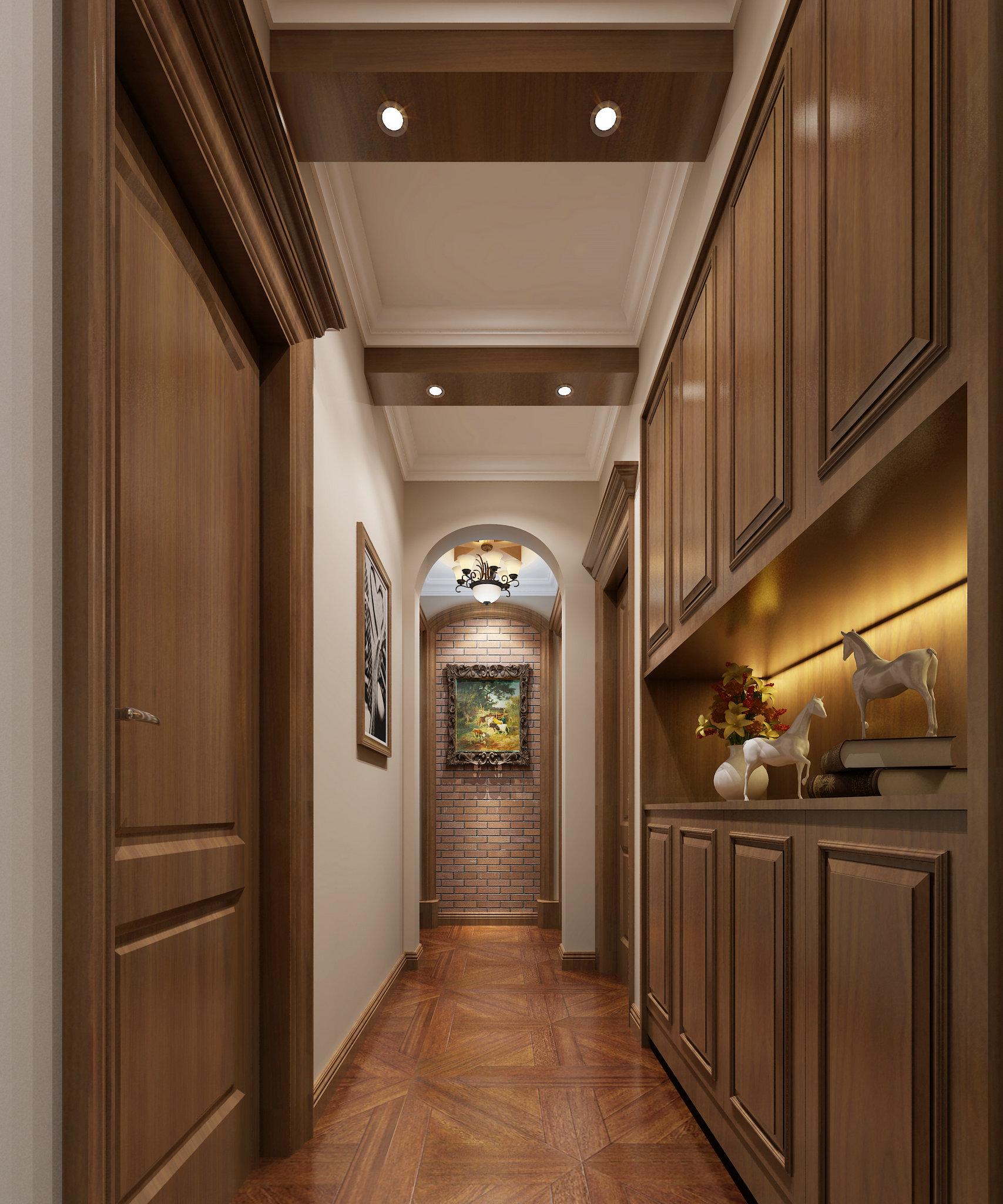 婆婆把180平米的房装修成这种美式风格,一进门就看呆了!-龙湖时代天街装修