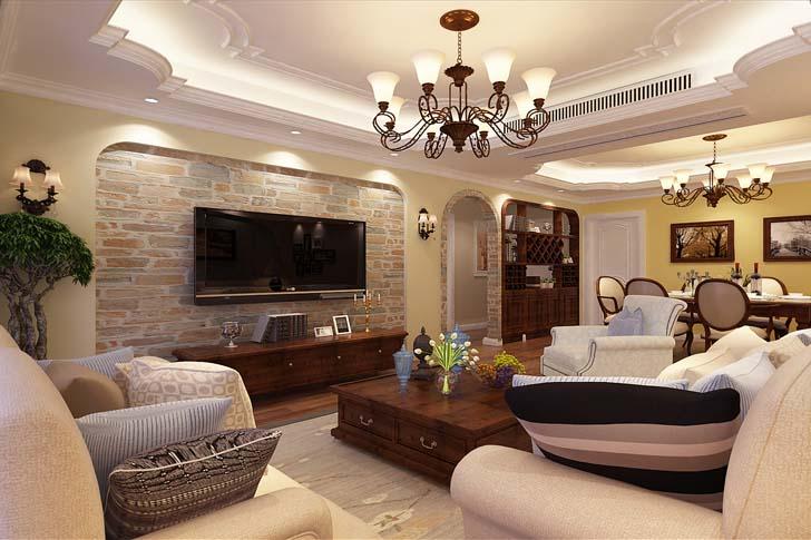 7万装修出130平米三居室美式风格,看过的人都点赞!-国金华府装修